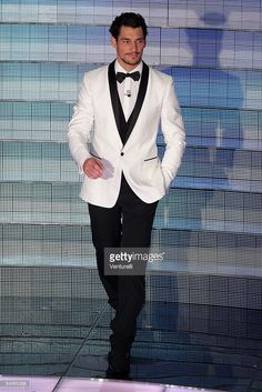 David Gandy attends the fifth evening of the 59th San Remo Song Festival at Ariston Theatre on February 21, 2009 in San Remo, Italy.