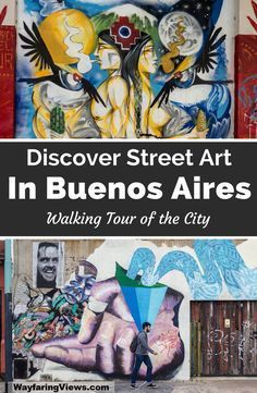 Take a street art tour of Buenos Aires Argentina. You walking tour includes murals in neighborhoods like Palermo Soho, San Telmo and Colegiales. | Things to do in Buenos Aires | What to do in Buenos Aires | City walking tour