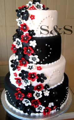 black, white and red by sugarspicecouture; I think this will be the color scheme too. So pretty.