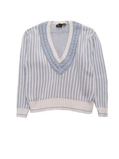 Thick, stripe knit sweater with tennis motif accents. Ribbed sleeves and waist. - 100% cotton - made in Korea - Excellent Condition - 80s VINTAGE - Liz Claiborne Sport - Size M One available