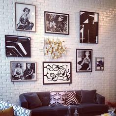 Fab art wall @dwellstudio. #newyork