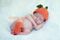 Baby pumpkin hat and leggings  many sizes by FaithfullyHooked, $19.00