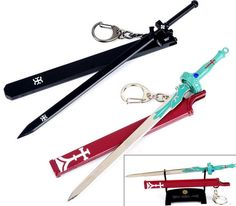 Now available on our store : SWORD ART ONLINE ...   SHOP HERE : http://pica-collection.com/products/sword-art-online-kirito-asuna-swords-keychain?utm_campaign=social_autopilot&utm_source=pin&utm_medium=pin