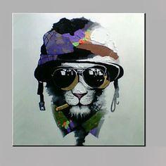 sola+mano+pura+abstracta+moderna+dibujar+listo+para+colgar+decorativo+con+gafas+de+la+pintura+al+óleo+del+perro+–+USD+$+38.24