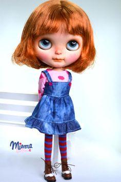 DRESS for Blythe by Miema Dollhouse by miema4dolls on Etsy
