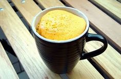 5 minute white cake in a mug - could make it lemon, or whatever