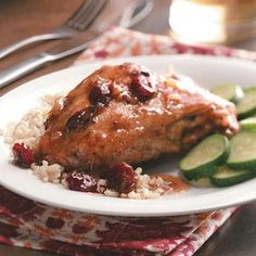 Cranberry Chicken in the Slow Cooker