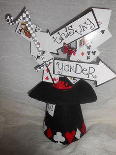 Alice in wonderland party centerpiece. $50.00, via Etsy.