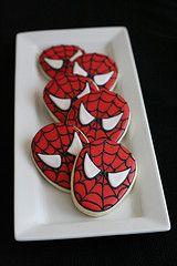 spiderman cookies for my lucas