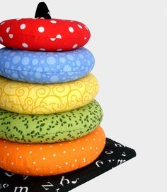 Ring Stacker Soft Toy | YouCanMakeThis.com