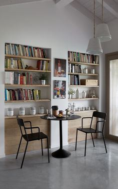 Futuro Anteriore, Lamelle and Manifesto Large Bookshelves, Open Bookcase, Book Shelves, Bookcases, Coffee Chairs, Small Apartment Kitchen, Living Spaces, Living Room, Scandinavian Interior