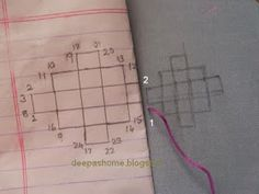 Hi everyone, For all those who wanted to know how the kutch work pattern with mirror was stitched,here's the tutorial. I have tried to sho...