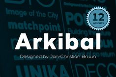 Arkibal Sans by Jan-Christian Bruun on @creativemarket