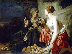 Vertumnus and Pomona; Attributed to Cesar van Everdingen (Dutch, about 1617 - about Oil on canvas; × 140 cm × 55 in. Roman History, Art History, Ovid Metamorphoses, Russian Painting, Getty Museum, Utrecht, Art Google, Fine Art America, Oil On Canvas