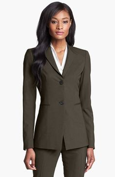 Lafayette 148 New York 'Livia' Stretch Wool Jacket available at #Nordstrom $498