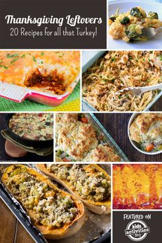 Thanksgiving Leftovers – 20 Recipes for all that Turkey. Leftovers- the gift that keeps on giving.