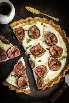Labneh, Fig, & Thyme Tart with Pistacho-Almond Crust | Journey Kitchen