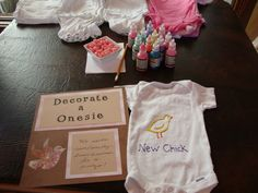 Baby Shower Onesie Decorating Examples | Vegan Baby Shower | Epicurean Vegan