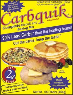 Carbquik vs Bob's Red Mill Baking Mix