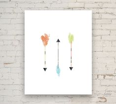 Modern Watercolor Arrows DIY Art Print by truthandfable on Etsy https://www.etsy.com/listing/189823422/modern-watercolor-arrows-diy-art-print
