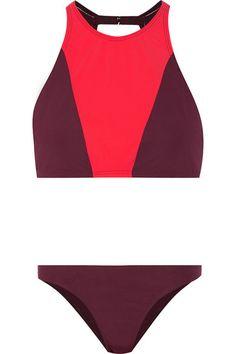 FLAGPOLE SWIM Shay cutout two-tone bikini