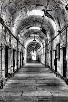 """Eastern State Penitentiary Haunted Prison. Gotta get back and do the day tour...the night tour is also very cool but I am more interested in the REAL facts not the """"made up"""" stuff..."""