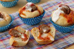 Muffin alla pizzaiola con polpetta