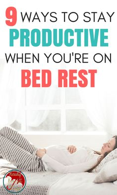 These pregnancy bed rest survival tips are so helpful! The ideas and exercises here will allow you to stay productive, keep busy, and have a healthy baby. #9 is especially important!