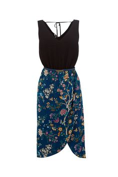 Oasis, V&A 2 IN 1 DRESS Turquoise 0