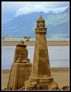 World championship sand sculpture competition at Harrison Hot Springs.