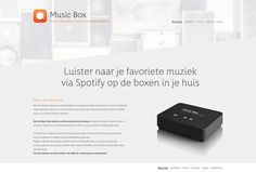 Visual design voor de Music Box van KPN. #webdesign #visualdesign