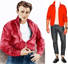 What Would James Dean Wear? James Dean Red Jacket for Sale and More - Esquire