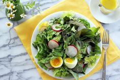 Blue Kale Road - a light spring salad to play counterpoint to all the matzo and charoset eaten on Passover!