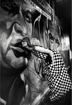 Melancholie² -- Model and singer Nico (Christa Paffgen) at the Artkraft Strauss billboard factory, 1965. Shot by Steve Schapiro