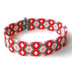 Thin Beaded Bracelet by Anabel27shop on Etsy