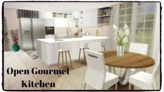 Dinha Gamer: Open Gourmet Kitchen • Sims 4 Downloads