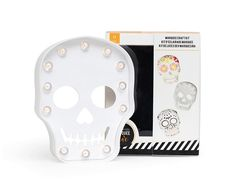 view of Halloween Marquee Love Plastic Skull kit components