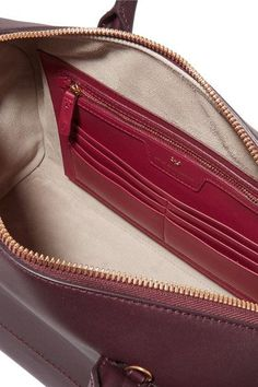 Anya Hindmarch - Vere Barrel Leather Tote - Burgundy - one size