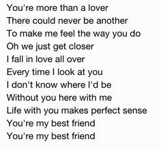 Songs for your best friend