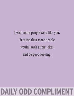 Odd Compliment