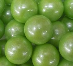 Gumballs - Pearl Lime Green, Lime Green Candy, Light Green Gumballs