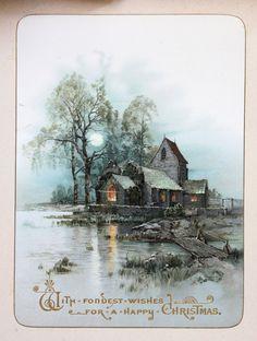 Late 19th century Christmas card