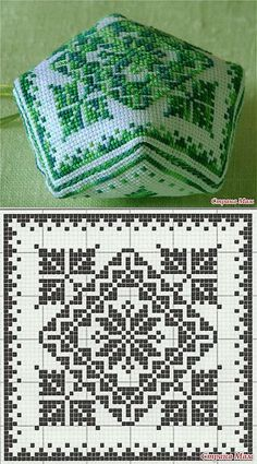 Inspirations Croche with Any Lucy: Square Biscornu Cross Stitch, Cross Stitch Charts, Cross Stitch Designs, Cross Stitch Embroidery, Embroidery Patterns, Cross Stitch Patterns, Filet Crochet Charts, Crochet Cross, Knitting Charts