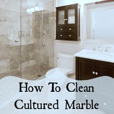We have a relatively new shower whose walls are cultured marble. What is the best way to give them the occasional clean to remove soap scum, etc?