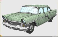Polygon Modeling, 3d Modeling, Sub D, Hard Surface Modeling, 3d Studio, 3d Max, Wireframe, Gas Station, Zbrush