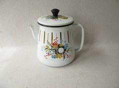 Vintage Enamel Tea Pot Kettle