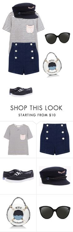 """""""navy"""" by ludopolier ❤ liked on Polyvore featuring Chinti and Parker, Miss Selfridge, Keds, Kate Spade and Linda Farrow"""
