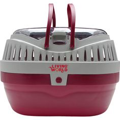 Living World Carrier - Large - Red & Gray