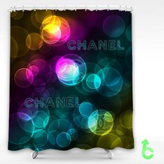 Cheap Chanel Abstract Bubble Color Shower Curtain