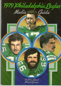 1979 philadelphia eagles; #vintage media guide; bergey; carmichael; montgomery from $7.99